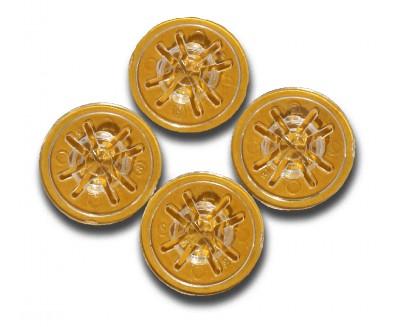 CD-клипсы прозрачные 30мм х 4.3мм по 100 шт