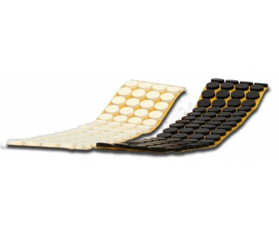 Белые CD-спайдеры GLUE DOTS™ 4мм высотой, в рулоне 500 шт.